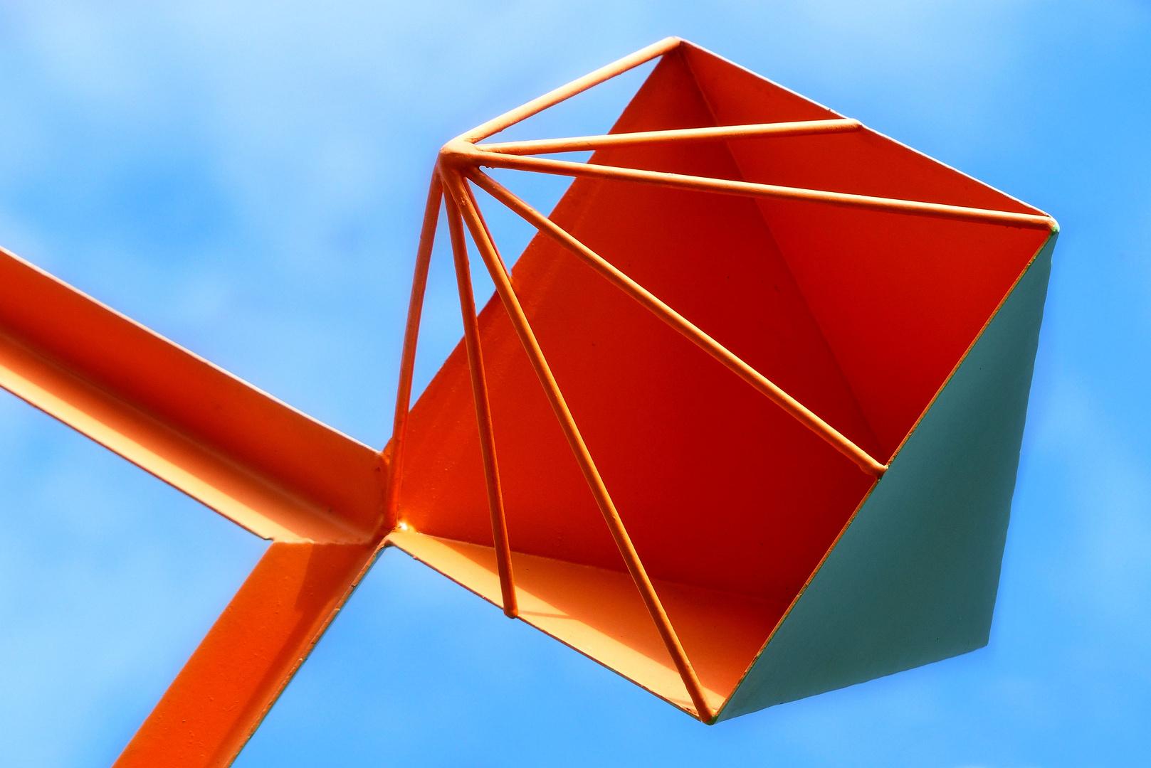 ... fragment of Wind sculpture Manrique