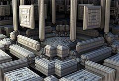 Fraktale Tempelanlage