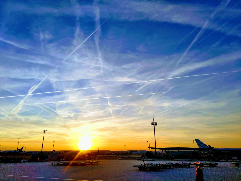 Frankfurt Airport (3) Sonnenuntergang