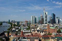 Frankfurt am Main / Blick auf die Skyline vom Domturm