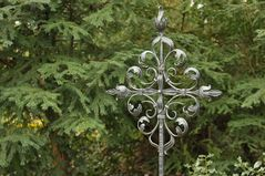Frankfurt am Main, Hauptfriedhof: Das silberne Kreuz