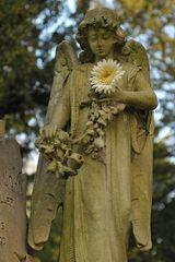 Frankfurt am Main, Hauptfriedhof: Der Engel mit der Blume