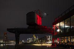 Frankfurt am Main: Weseler Werft, Main Plaza und Skyline