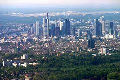 Frankfurt aus der Vogelperspektive