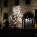 Frankfurt bei Nacht - Schopenhauer