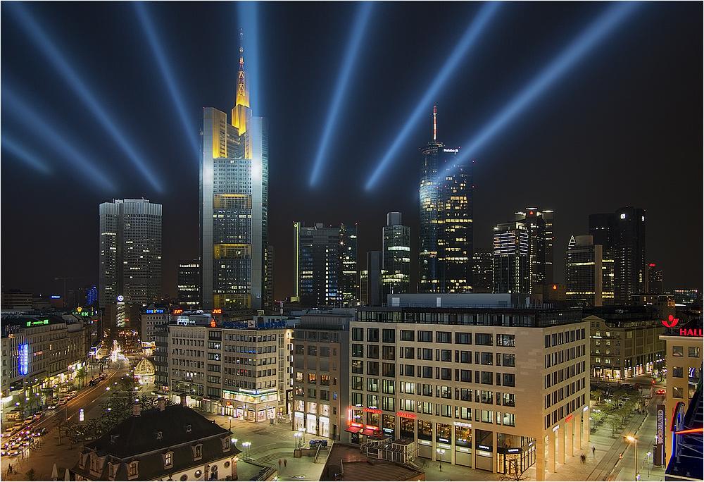 Frankfurt - Blick von der Zeil Galerie - Luminale