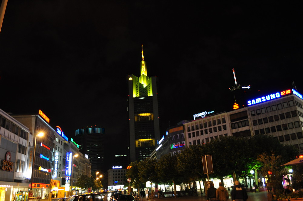 Frankfurt city de nuit