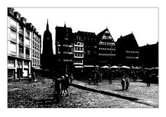 Frankfurt Miniatur in sw 1