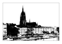 Frankfurt Miniatur in sw 2