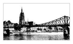 Frankfurt Miniatur in sw 3