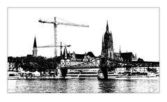 Frankfurt Miniatur in sw 5