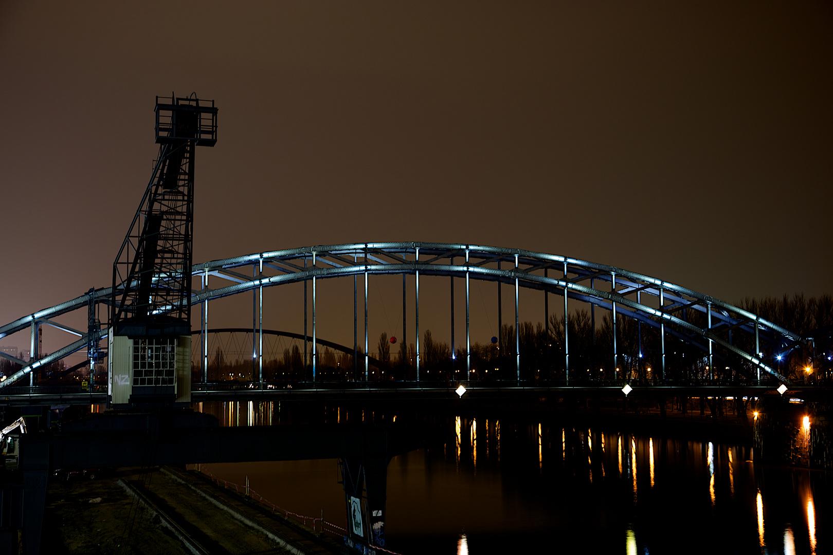 Frankfurt Ostend bei Nacht