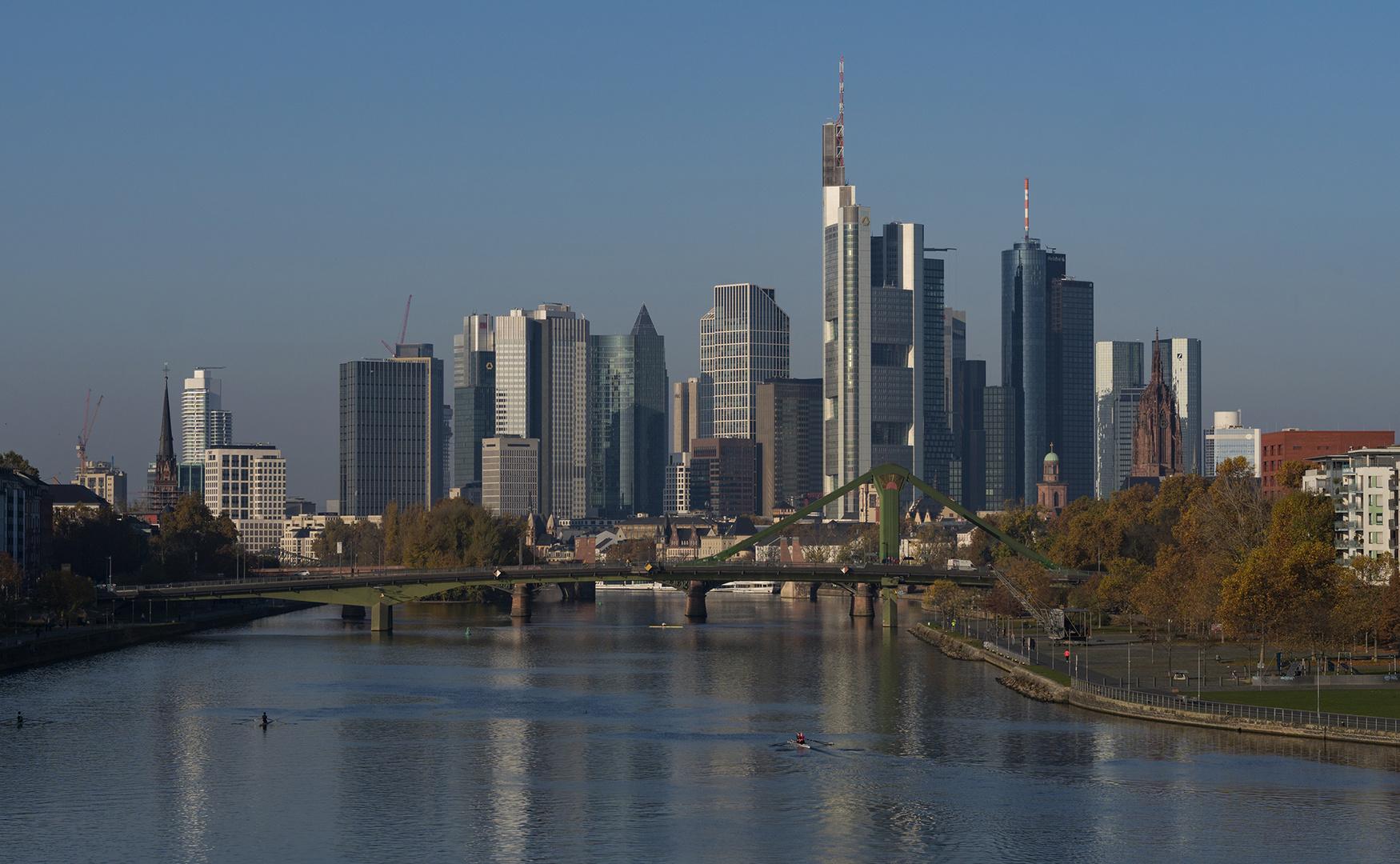 Frankfurt-Skyline am 08.11.2020