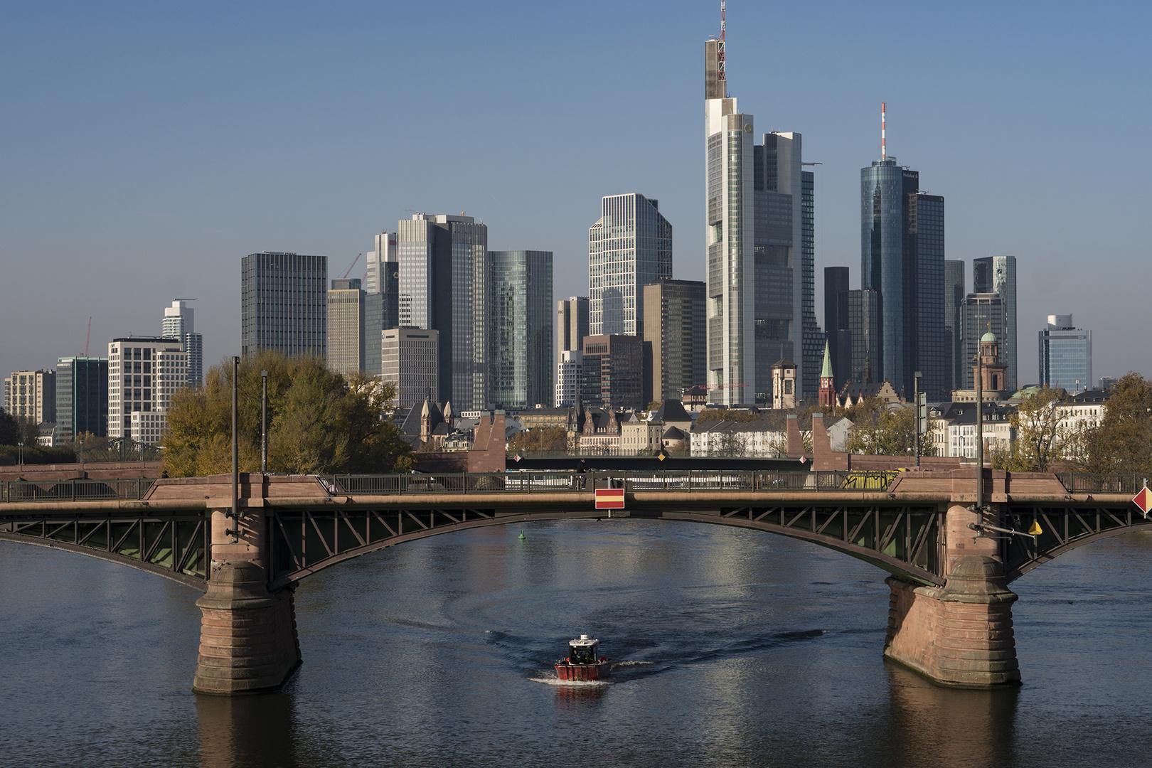 Frankfurt-Skyline am Tag am 08.11.2020