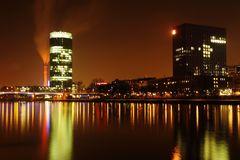 Frankfurt Westhafen bei Nacht