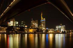 Frankfurter Skyline: Blick v. Mainufer, Sachsenhäuser Seite
