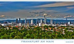 Frankfurter Skyline, gesättigtes HDR