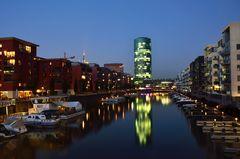 Frankfurter Westhafen: Mole und Westhafentower