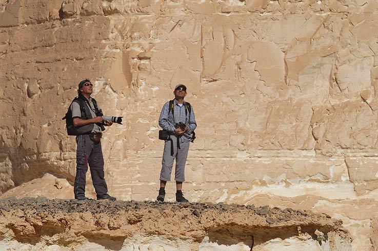 Franz und Marcel in den High Rocks der Weissen Wüste
