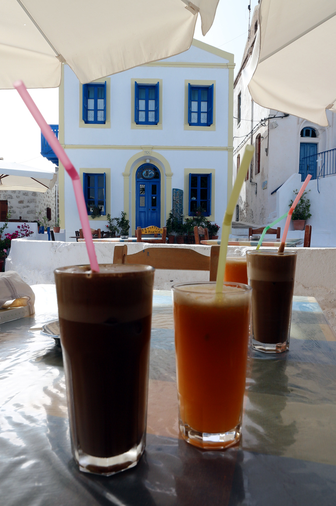 Frappé and fresh Orange Juice