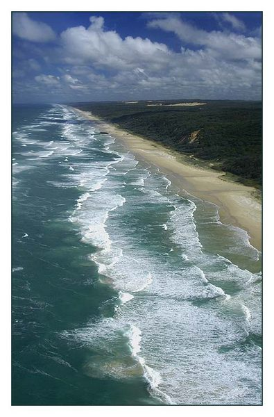 Fraser Island from the air