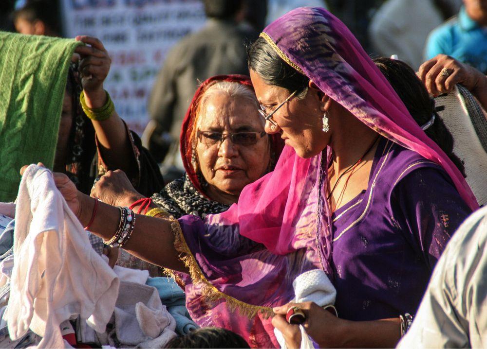 Frau auf Markt India street
