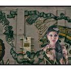 Frau im Graffiti
