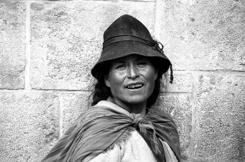 Frau in Cusco, Peru