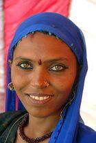 Frau in Pushkar Rajastan Indien
