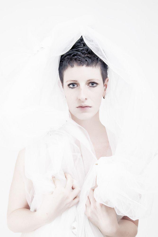 Frau in weiß