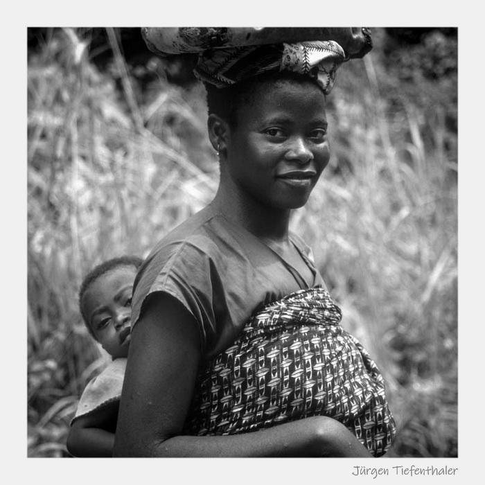 Frau mit Kind - Zaire