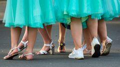 Frauenbeine in Riga