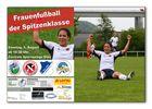 Frauenfussball-Werbeplakat