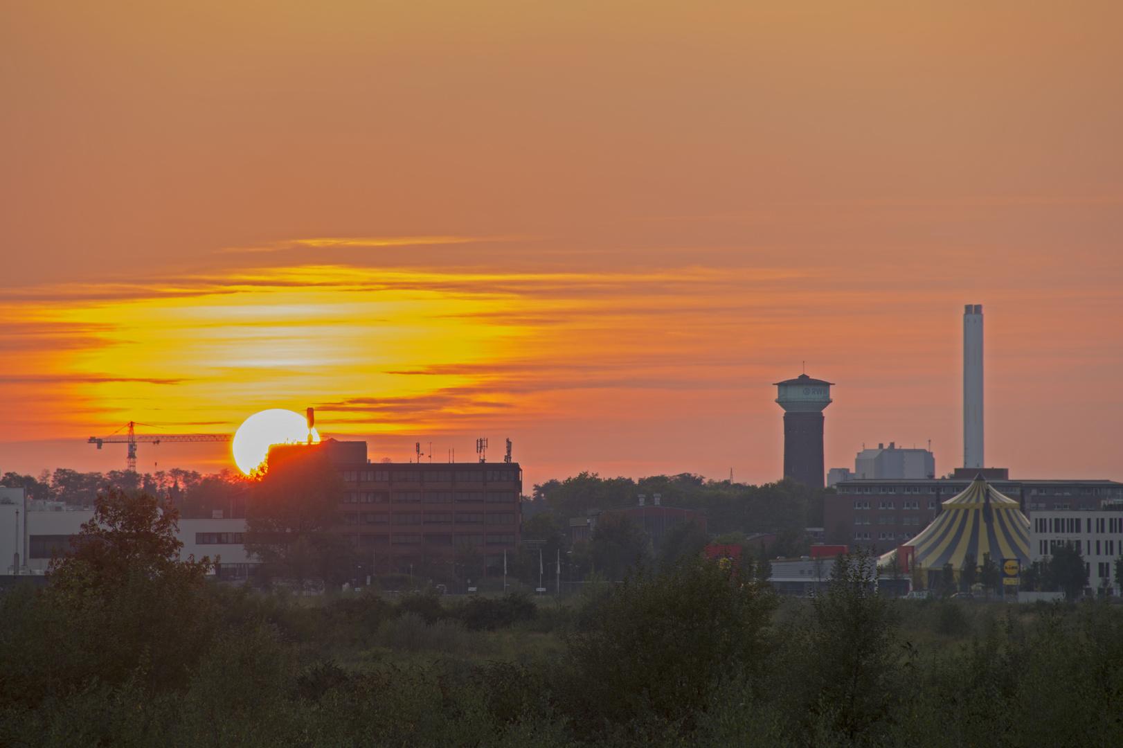 Frauenhofer-Umsicht Sonnenuntergang