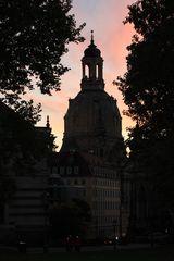 Frauenkirche im Abendrot