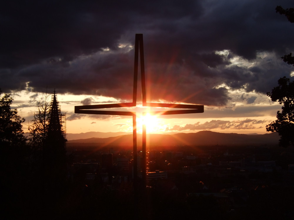 Freiburg im Sonnenuntergang