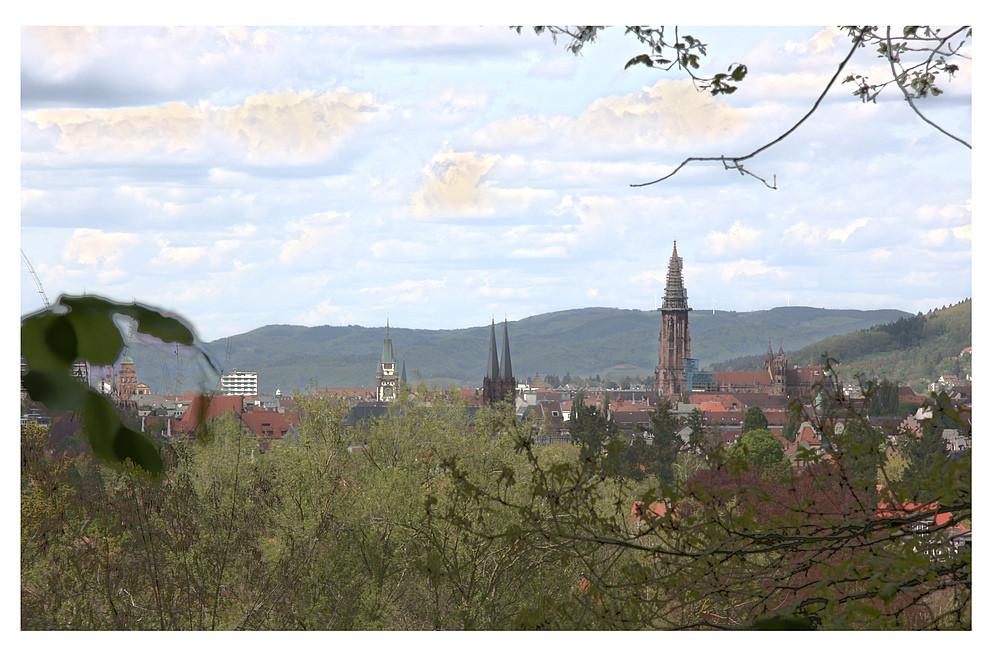 Freiburg: Martinstor / Johanneskirche / Münster