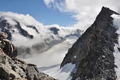 Freie Sicht auf den Glacier d' Argentière