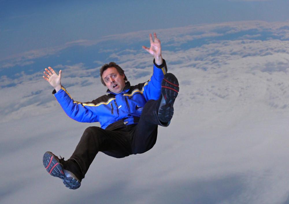 Freier Fall - ohne Überschall - ohne Fallschirm - ohne Sauerstoff