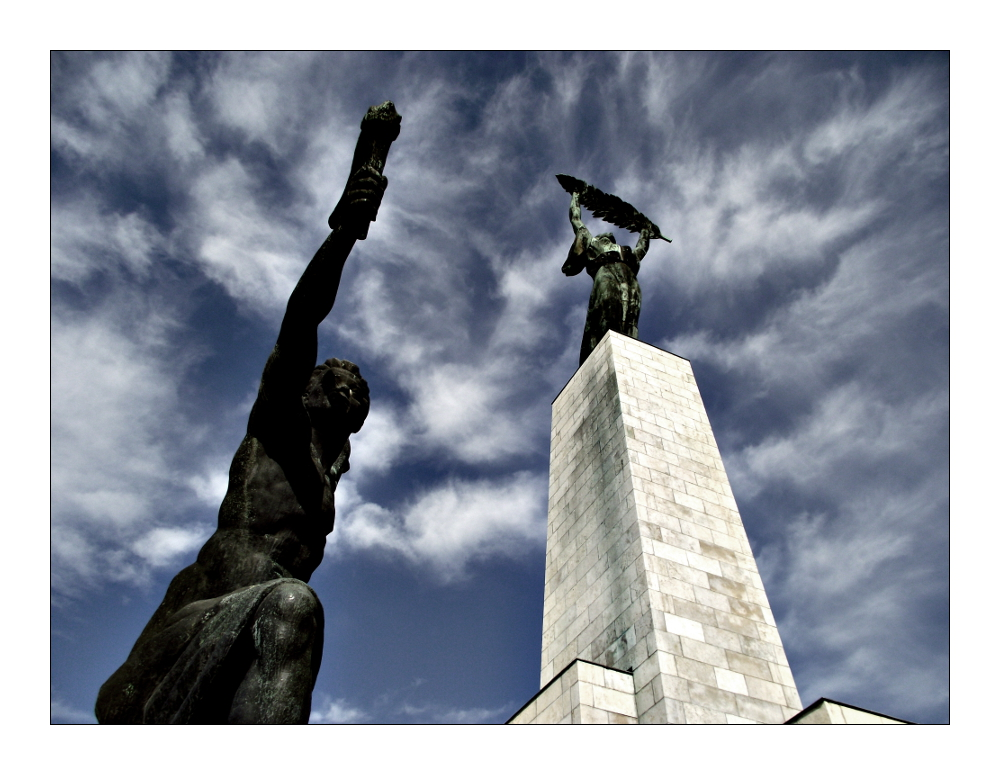 Freiheitsstatue am Gellertberg in Budapest