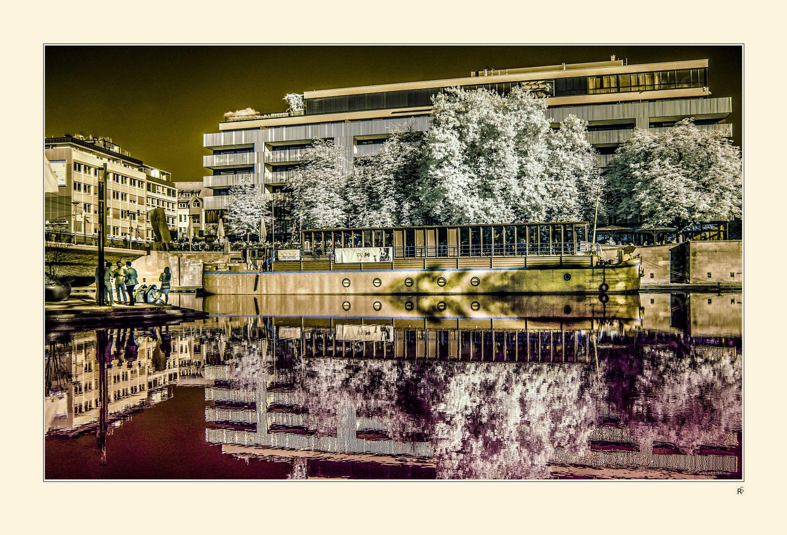 Freizeit am Neckarufer