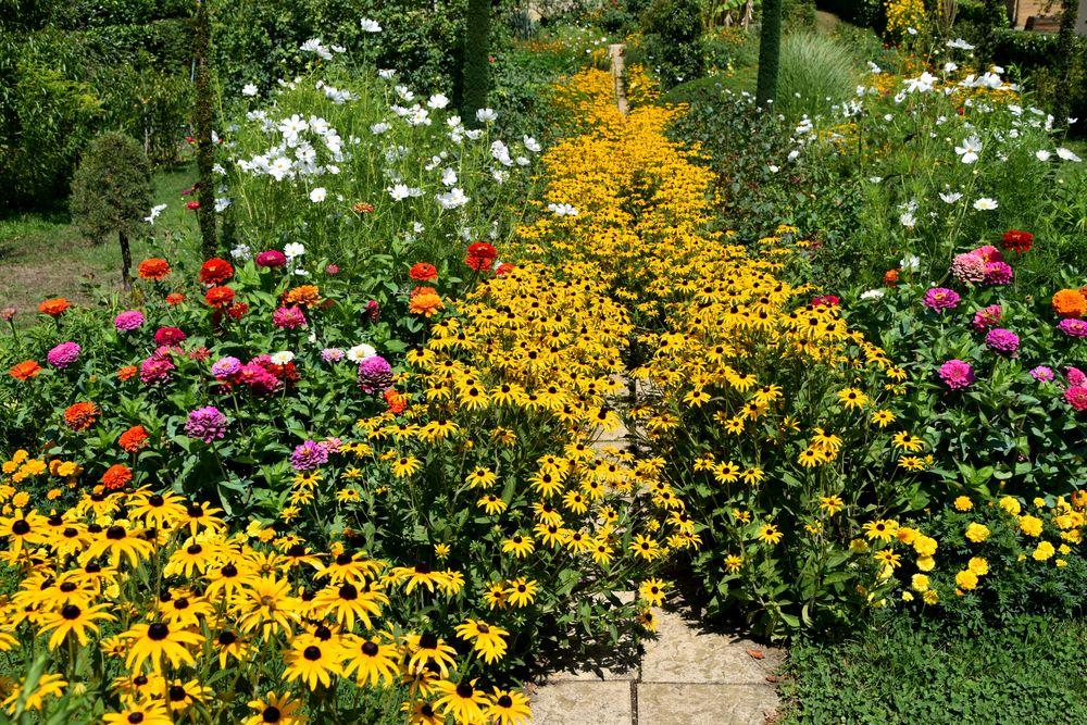 Fremde schöne Sommer Gärten