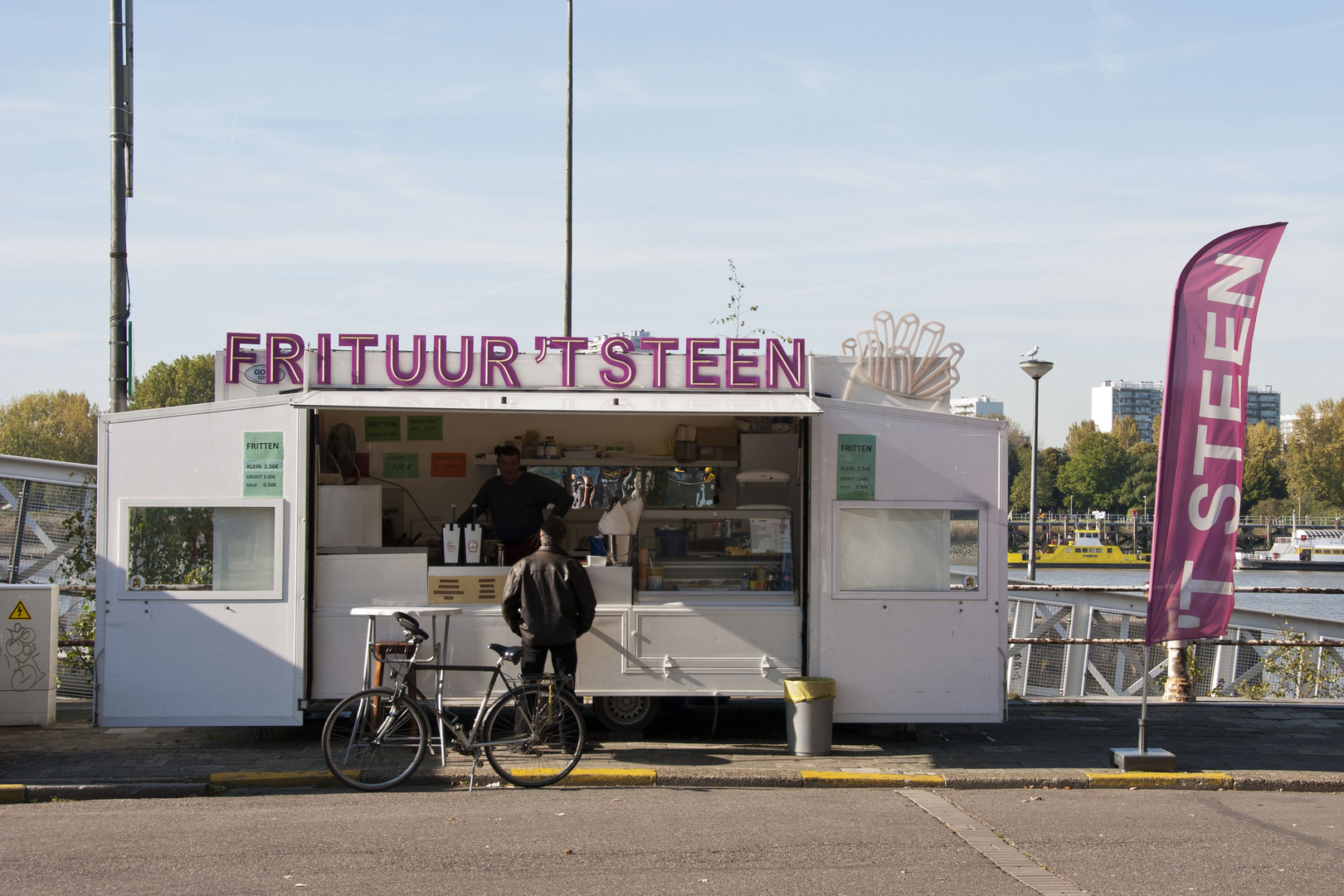 French Fries Stand at Steenplein