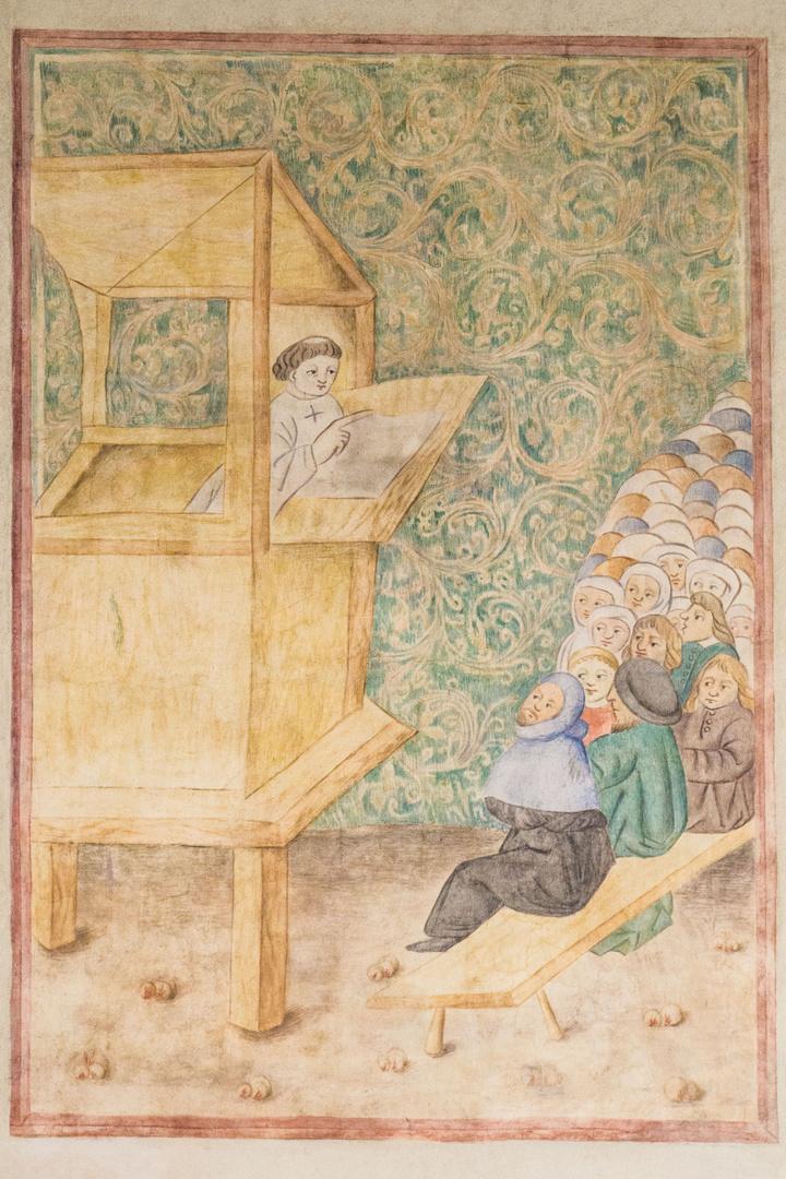 Freske Jan Hus' als Prediger