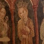 Fresken in einer kleinen Kirche im Karst