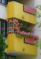 Freundliche Balkone