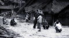 freundliche Dorfbewohner