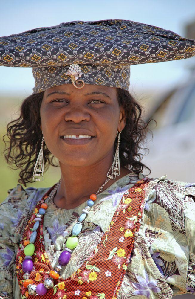 Freundliche Hererofrau