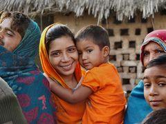 Freundliche Menschen aus Alsisar, Rajasthan