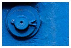 freundlicher blauer Standardsplint